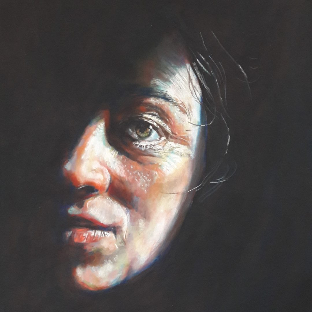 Out of the shadows - Pastel on paper