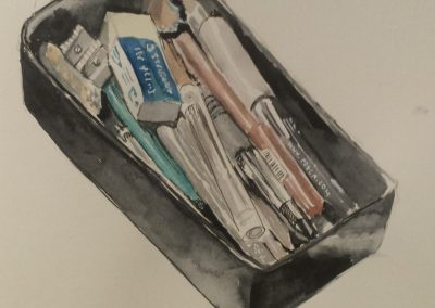 Art supplies – watercolour on cartridge paper