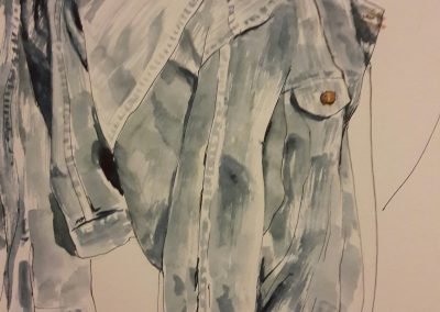 My jacket – watercolour in sketchbook