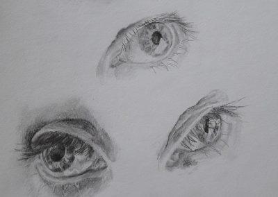Eyes – pencil