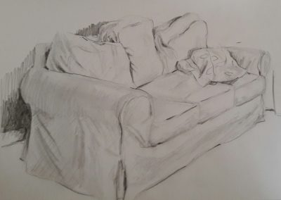 Our sofa – pencil