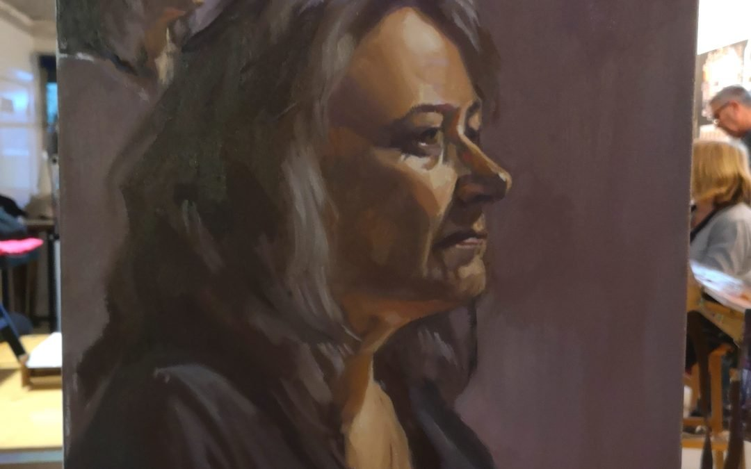 Painting the model from life using the Zorn palette
