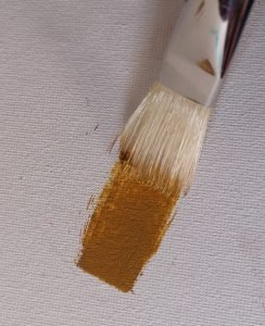 Using the width of a flat brush