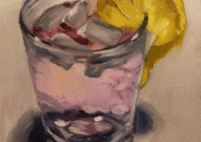 Pink gin