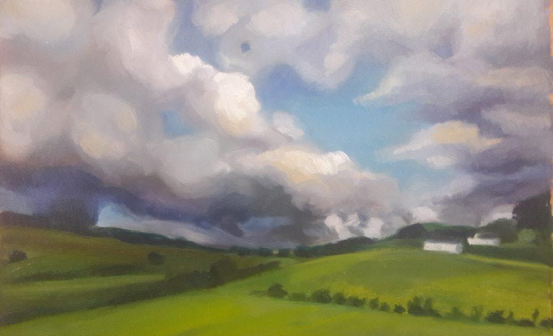 Clouds near Falkirk – oil sketch