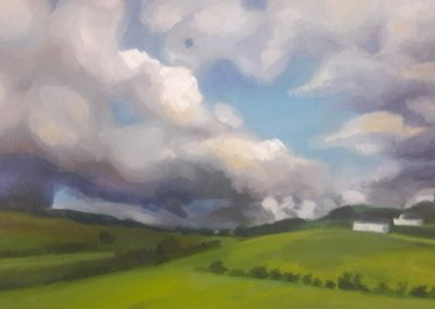 Clouds near Falkirk – oil sketch