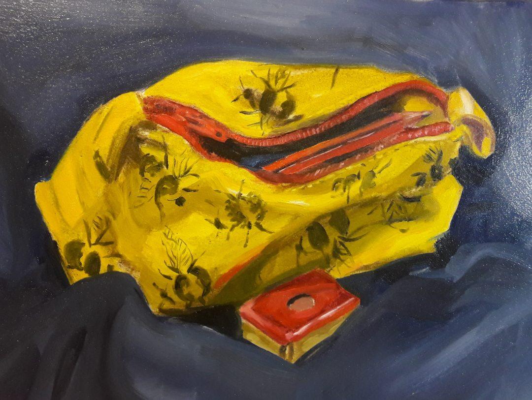Pencil case – oil sketch