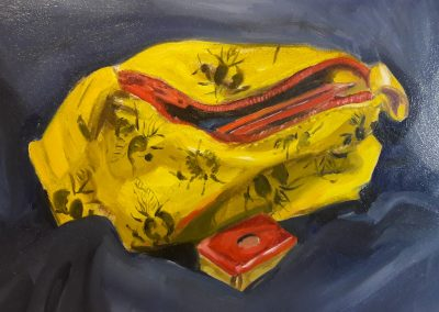 Pencil case – oil sketch