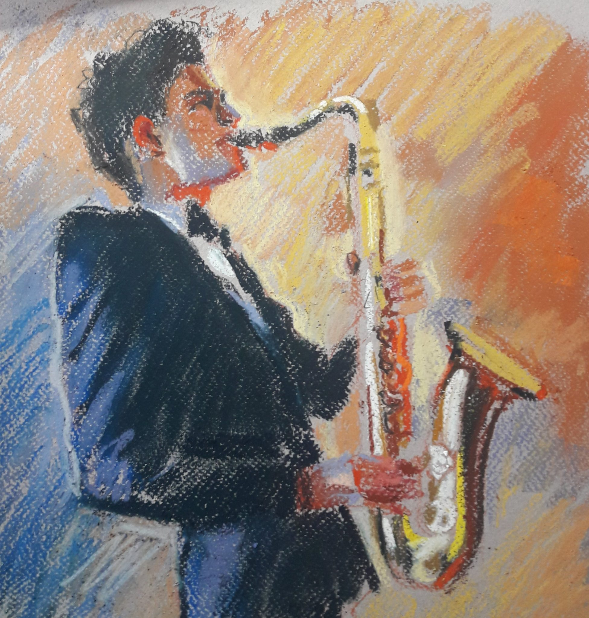 Prep sketch sax player