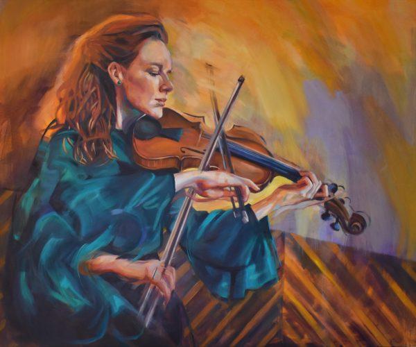 Rhiannon - The Folk Singer Print