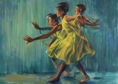 Dancer in a yellow dress 1